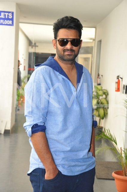 Prabhas during promotions of Baahubali The Conclusion
