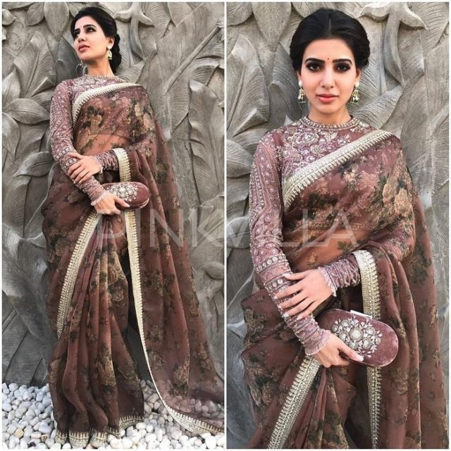 Samantha Ruth Prabhu in a Sabyasachi designed saree