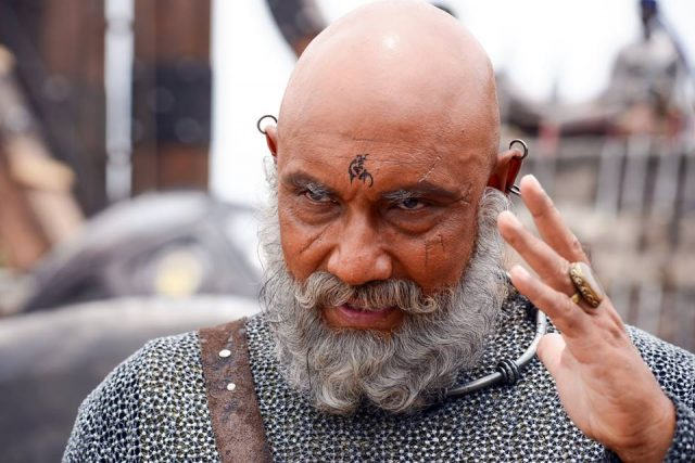 Sathyaraj as Kattappa in Baahubali