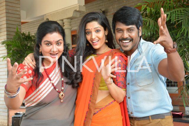 Ritika Singh, Urvashi and Lawrence in a scene from Sivalinga