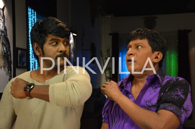 Vadivelu and Lawrence in a scene from Sivalinga