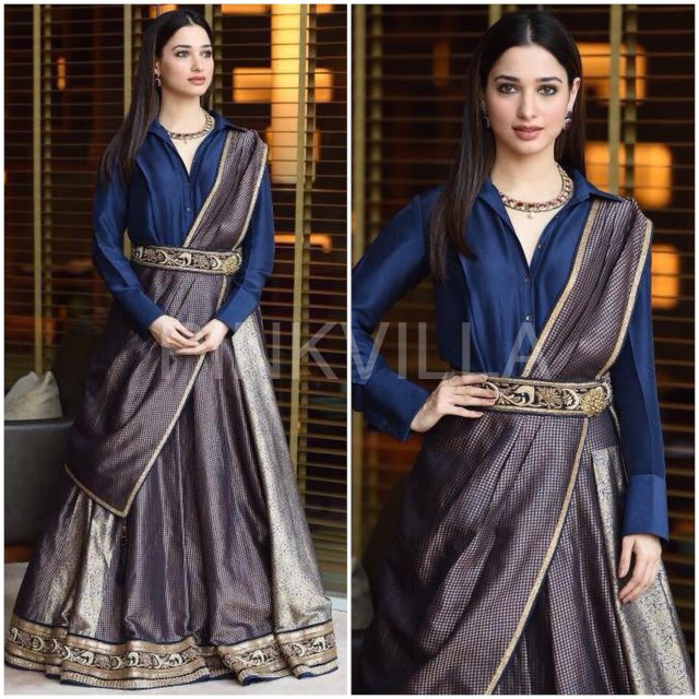 Tamannaah Bhatia in an outfit by Tarun Tahiliani
