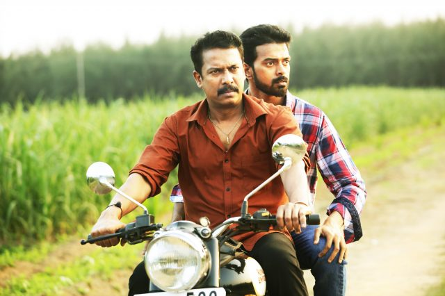Samuthirakani and Vikranth in Thondan