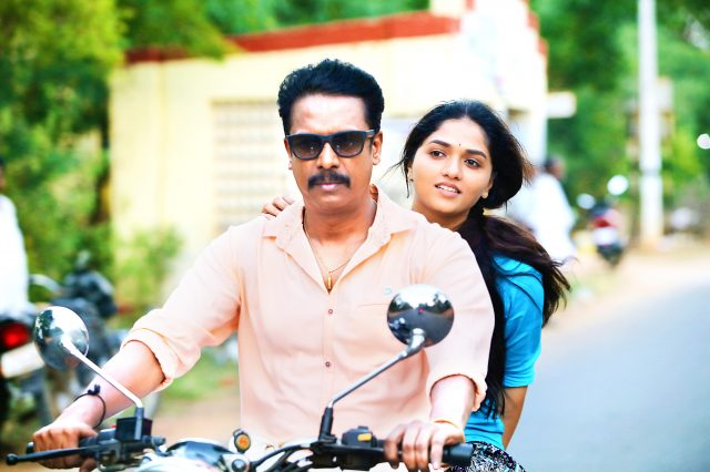 Samuthirakani and Sunaina in Thondan