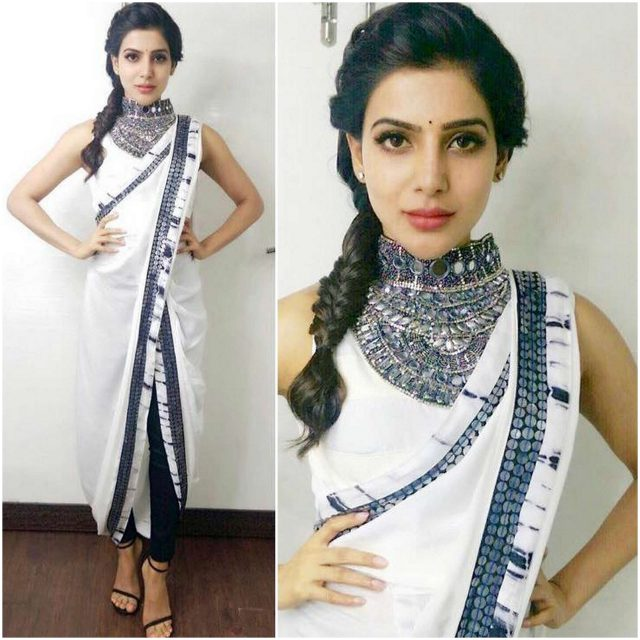 Samantha in a Roshni Chopra design saree