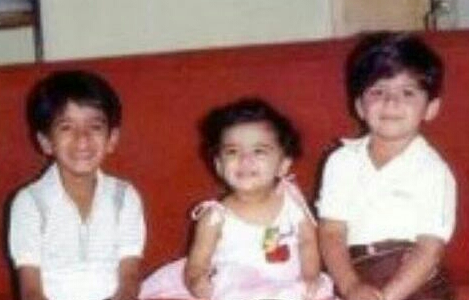 Childhood pictures of Anushka Shetty