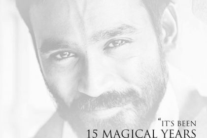 Dhanush becomes emotional after completing 15 years in film career