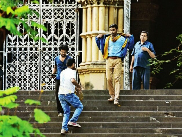 Dhanush from the shooting location of The Extraordinary Journey of the Fakir
