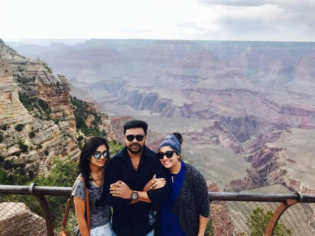 Dileep, Kavya Madhavan and daughter Meenakshi take a trip to the US