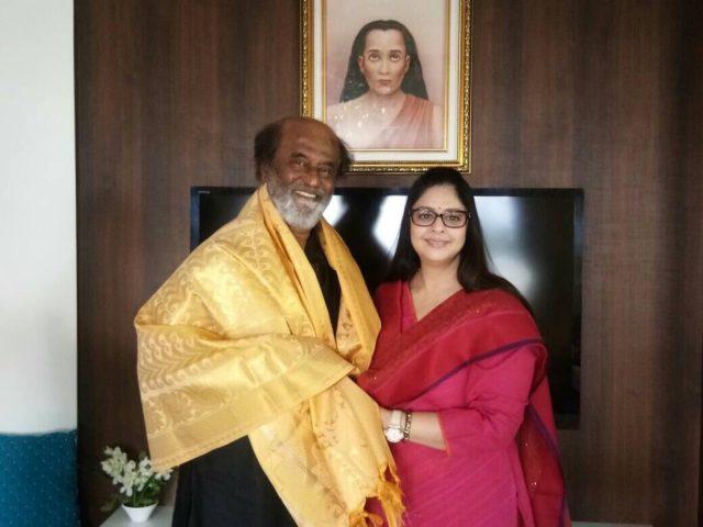 Baasha lead pair Rajinikanth-Nagma have a reunion