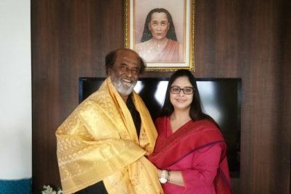 Baasha lead pair Rajinikanth-Nagma have a reunion