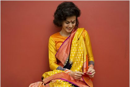 Taapsee Pannu Makes a statement in a Gaurang 'Bidri Art' Inspired Sari