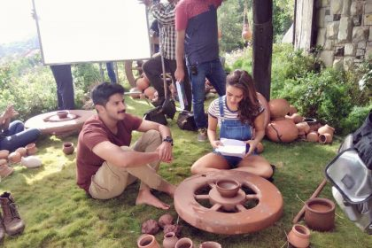 Photos: Neha Sharma Joins Dulquer Salmaan On the sets of Solo