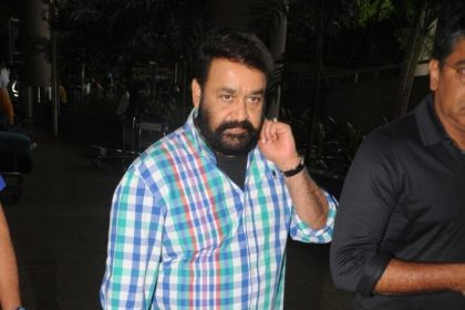 Malayalam superstar Mohanlal spotted at the airport