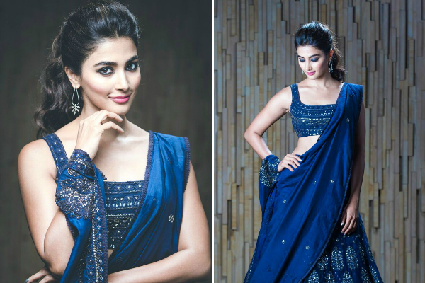 Pooja Hegde in JADE for Duvvada Jagannadham audio launch