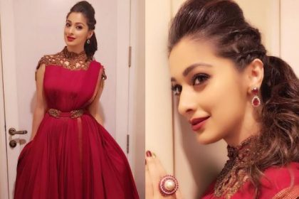 Raai Laxmi's grand and elegant outfit will give you desi goals