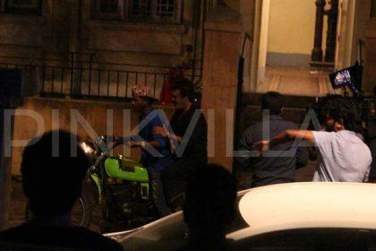Photos: Rajinikanth rides a bike as he shoots for Kaala In Mumbai