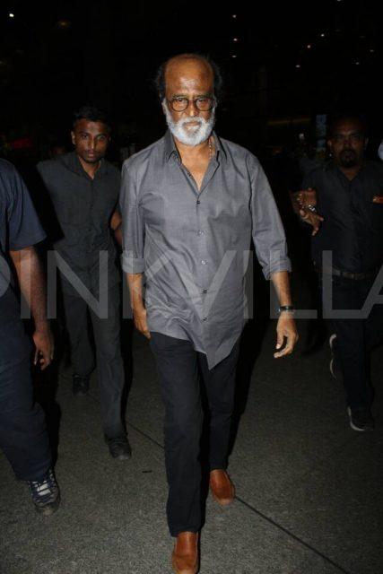 Superstar Rajinikanth looks majestic as he walks down the streets of Mumbai