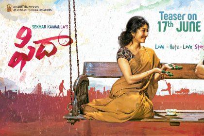 Varun Tej and Sai Pallavi starrer Fidaa teaser to be out soon