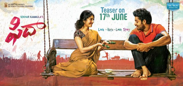 Varun Tej and Sai Pallavi starrer Fidaa teaser to be out soon