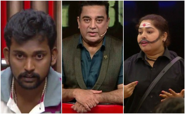 Bigg Boss Tamil Updates: Harathi gets eliminated in third week while Bharani gets invited by Kamal Haasan to talk about his eviction