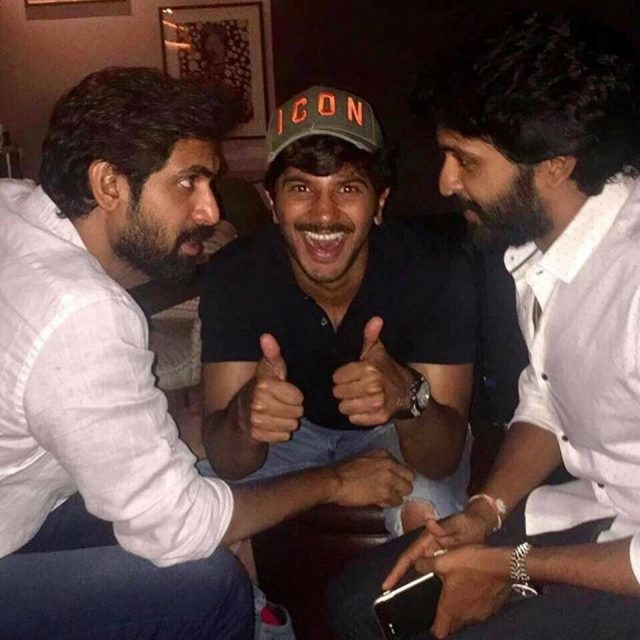 Photo: This picture of Rana Daggubati, Dulquer Salmaan and Vikram Prabhu together will make your day