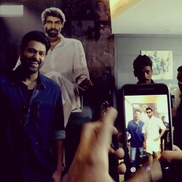 Photos: Prabhas and Rana Daggubati try their hands at 3D Augmented Reality