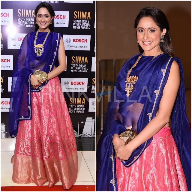 Pragya Jaiswal in Raw Mango outfit at SIIMA 2017