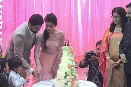 Engagement Pics:  Rakshit Shetty and Rashmika Mandanna shine on their big day