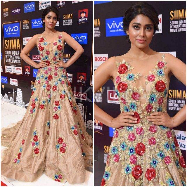 Shriya Saran in Manish Malhotra at SIIMA 2017