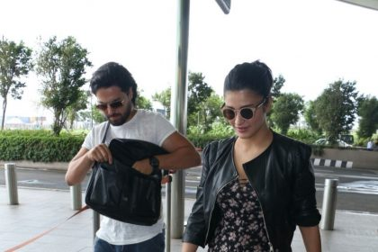 Photos: Shruti Haasan and her rumoured boyfriend Michael Corsale at the Mumbai airport