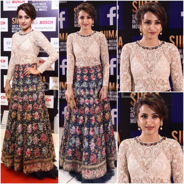Trisha in Varun Bahl Couture at SIIMA 2017