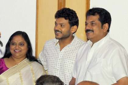 Actors Saritha and Mukesh to launch their son Shravan in Malayalam