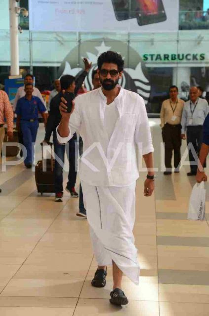 Photos: Rana Daggubati does a Jogendra at Mumbai airport
