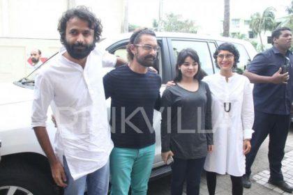 आमिर खान, किरण राव और ज़ायरा वासिम को आज सीक्रेट सुपरस्टार के ट्रेलर लॉन्च पर देखा गया