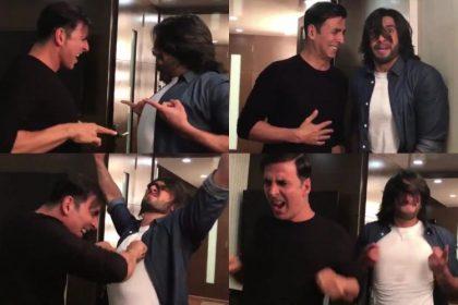 रणवीर सिंह टॉयलेट एक प्रेम कथा की ओपनिंग में अक्षय कुमार के क्रेजी डांस में हुए शामिल