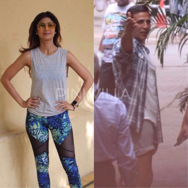 अक्षय कुमार और शिल्पा शेट्टी नज़र आये इस अंदाज़ में