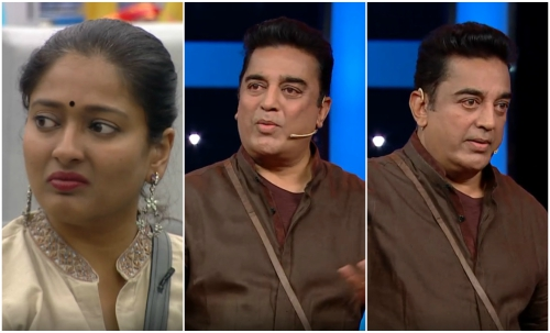 Bigg Boss Tamil: Gayathri gets evicted in this week's episode wjhile Kamal Haasan loses his cool for the first time