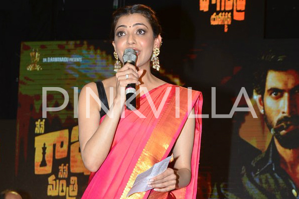 Watch this cute speech by Kajal Aggarwal in Telugu at Nene Raju Nene Mantri event