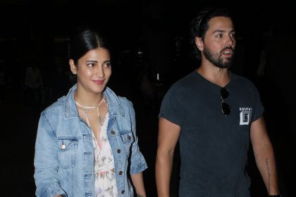 Photos: Shruti Haasan and rumoured beau Michael Corsale spotted at the airport