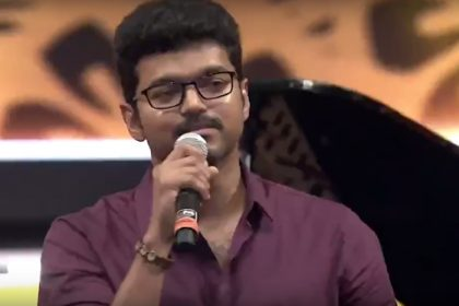 Ignore all the negativity, actor Vijay tells his fans at the audio launch of MERSAL