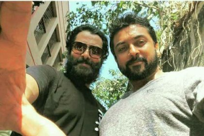 Photo: Internet is loving this selfie moment of Chiyaan Vikram and Suriya