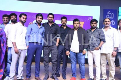 Photos: Prabhas attends the pre-release event of Mahanubhavudu starring Sharwanand and Mehreen Pirzada
