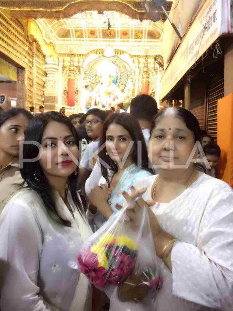 Photos: Parul Yadav visits the famous Lalbaugh Cha Raja Ganesh in Mumbai
