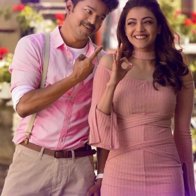 The stills from Vijay and Kajal Aggarwal's Mersal are quite