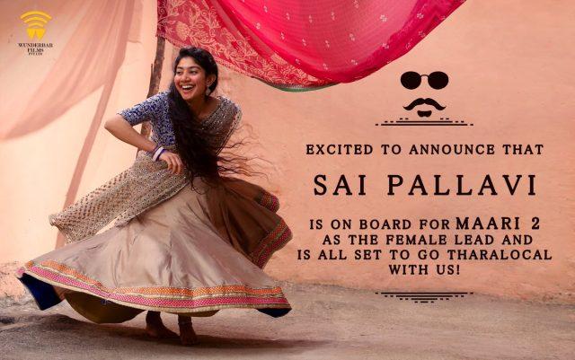 Sai Pallavi signed on for Maari 2 starring Dhanush