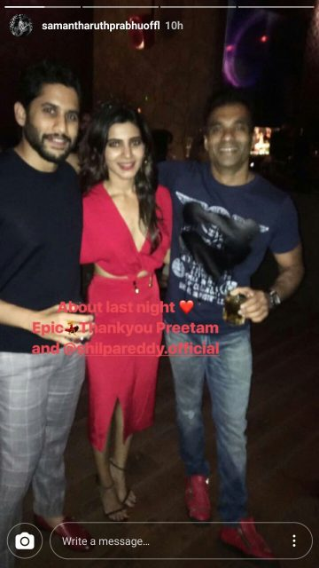 Photos: A sneak-peek into pre-wedding party of Samantha Ruth Prabhu and Naga Chaitanya