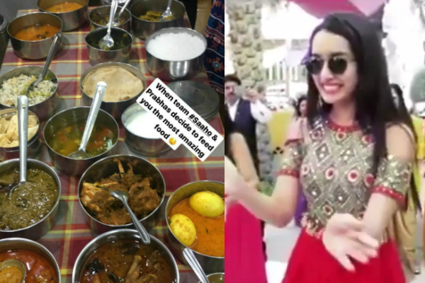 Photo: Shraddha Kapoor gets treated by Prabhas with special Telugu cuisines on the sets of Saaho