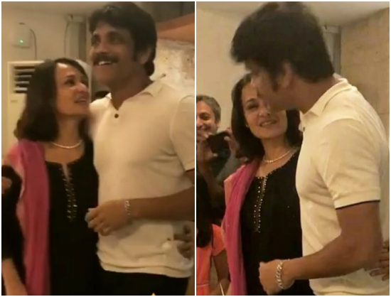 Samantha Ruth Prabhu shares an adorable video of Akkineni Nagarjuna and wife Amala celebrating birthday
