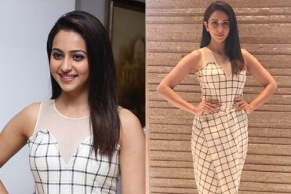 Rakul Preet in Urvashi Kaur for Spyder promotions